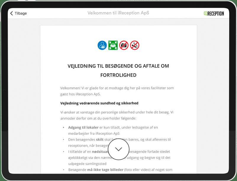 NDA Erklæring Sikkerhed Fortrolighedserklæring Gæsteregistrering