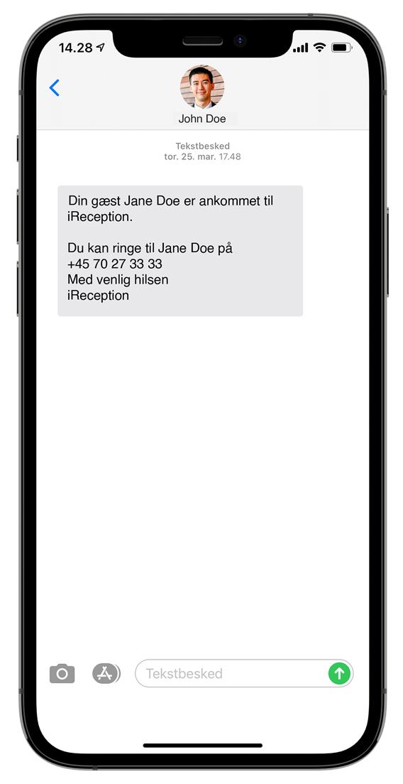 Notifikation Gæsteregistrering SMS
